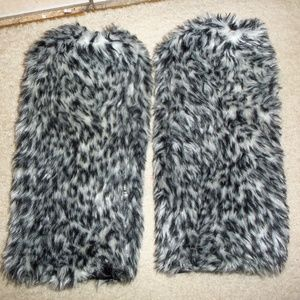Leg Warmers Womens Snow Leopard White